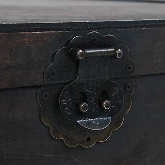 vidaXL table de table en bois massif style vintage 120 x 55 x 35 cm