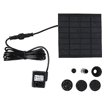 Silver 6v 0.8w 150l/h solar power water pump fountain submersible pump for pool garden plants (black) dt4228