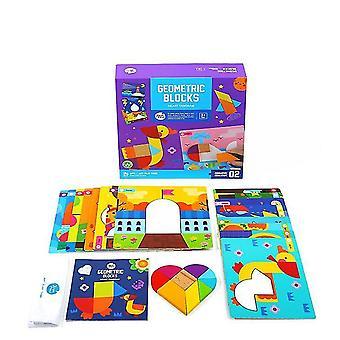 Typ2 Tangram Puzzles Kinder Holzmuster Blöcke Set dt5117