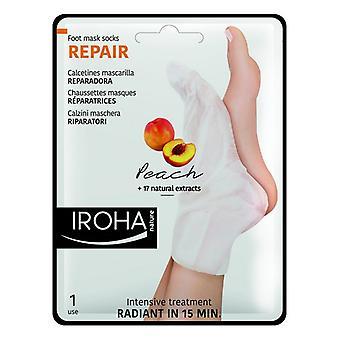 Moisturising Socks Repair Peach Iroha (2 Pieces)