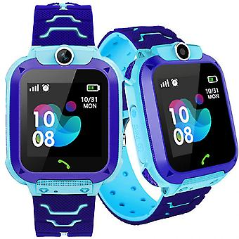 Children's Smartwatch with front camera GPS locator and SOS - blue