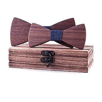 Školní děti Bow Wedding Plaid Masivní dřevo Kravata Kravata Kravata