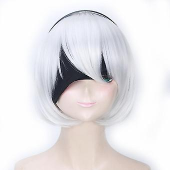 Nier:automata Anime Wigs Short Cosplay Synthetic Hair Wigs