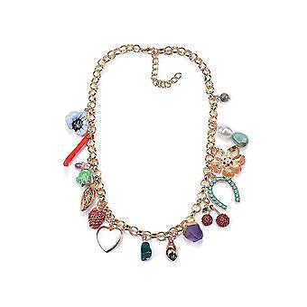 Women Necklace Flower Bohemian Alloy Diamond Mixed Alloy Pendant For Festival