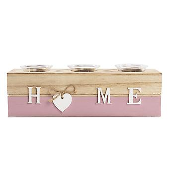 Home Tealight Candle Holder | M&W Pink