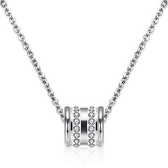 Loop Hänge & Örhänge Set insvept med kristaller från Swarovski - Silver