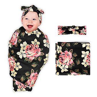 Baby Blanket Newborn Receiving Blanket Swaddle Blanket Peony
