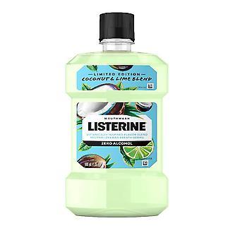 Listerine zero alcohol mondwater, limited edition kokos limoen, 16,9 oz