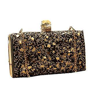 Women Fashion Crossody Bag Shoulder Bag Sequins Glitter Handbag BLACK COLOR