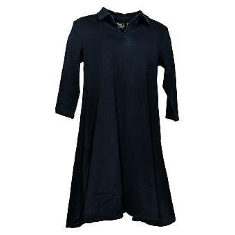 Kvinder med Kontrol Petite Dress Prime Stretch Denim 2 Swing Blue A378252