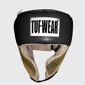 Tuf Wear Apollo Metallic Läder Huvudskydd med Kind Svart / Rose Gold
