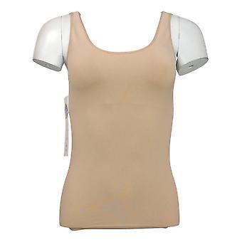 Rhonda Shear Shaper Sem emenda tanque w/prateleira Bra Bege Shapewear 586034