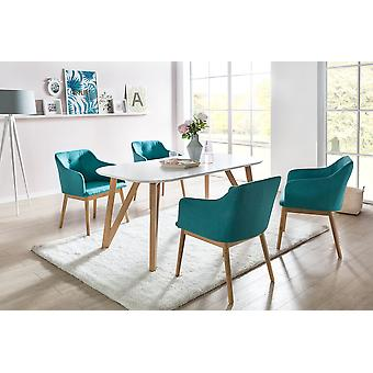 Tomasso's Terni Dining Table - Modern - White - Mdf - 200 cm x 90 cm x 76 cm