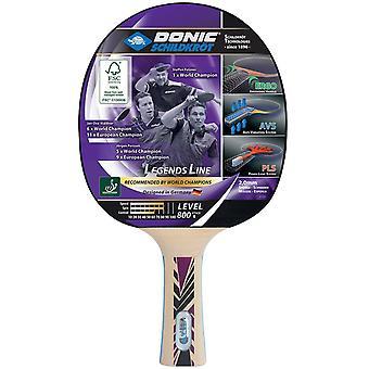 Donic Schildkrot Legends 800 FSC Table Tennis Paddle Bat Wood Ping Pong Racket