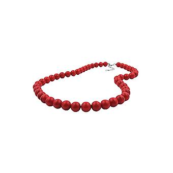 Necklace Beads 10mm Red-black 45cm 45608 45608 45608