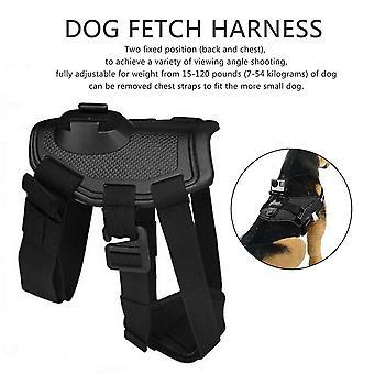 כלב להביא רתמה רצועת חזה חגורה עבור Gopro גיבור 4/3+/3/2/1 אביזרים לחיות מחמד
