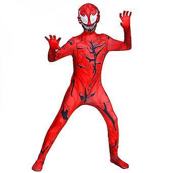 Halloween Venom 2 Cosplay Tight Jumpsuit Outfit, Venom/venomed (child Clothing)