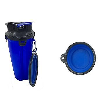 Homemiyn Pet bærbar vannkopp med sammenleggbar bolle for utendørs reisecamping