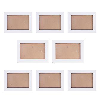 8個のフォトフレームセットシンプルな創造的な家庭の寝室ハンギングフォトフレーム模造木製フォトフレームセット