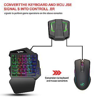 Noua consolă de jocuri periferice tastatură și mouse Converter Set, acceptă o varietate de console de jocuri, tastatura numerică și mouse-ul combinații