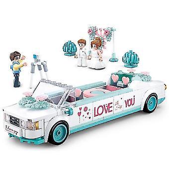Qian ensamblado edificio de la carroza de bodas Niños y niñas Juguetes juguetes juego de | apilar bloques (blanco)