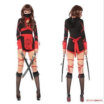 Femmes Ninja Cosplay Jumpsuit Warrior Halloween Costume Fancy Dress Party