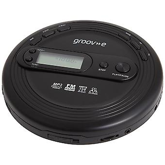 Prodotti-serie Retro personali lettore CD + Radio MP3 Playback e auricolari - nero