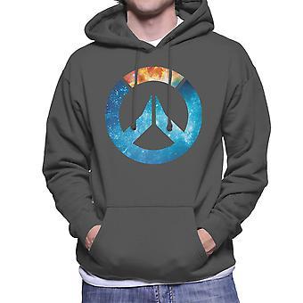 Overwatch Galaxy siluett Mäns Hooded Sweatshirt