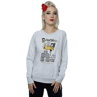 Looney Tunes kvinnors Daffy Duck kikare Sweatshirt