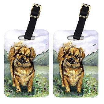 Carolines Treasures  7075BT Pair of 2 Tibetan Spaniel Luggage Tags