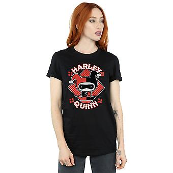Chibi Harley Quinn Badge Boyfriend DC Comics féminines Fit T-Shirt
