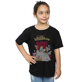 Disney Girls Alice In Wonderland Retro Poster T-Shirt