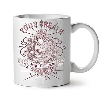 Skull Breath NEW White Tea Coffee Ceramic Mug 11 oz | Wellcoda