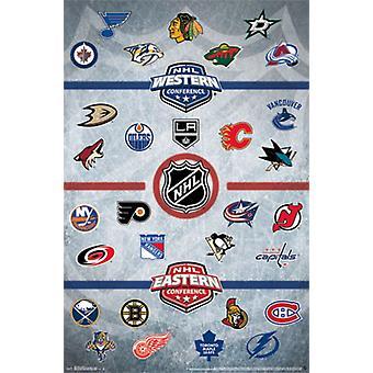 НХЛ & reg - логотипы 14 Плакат Печать
