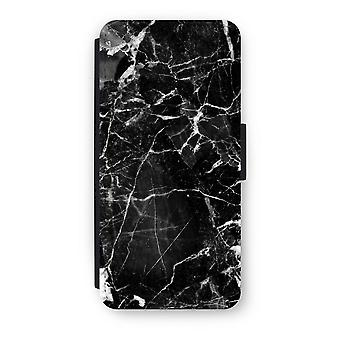 iPhone 5c Flip Case - Schwarz Marmor 2