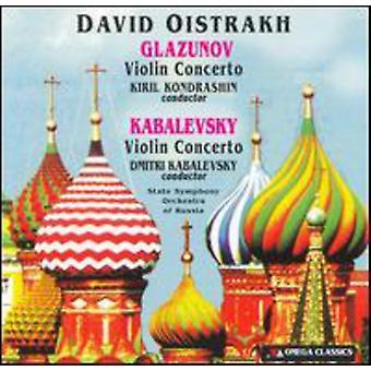David Oistrakh - Glaszunov, Kabalevsky: Violin Concertos [CD] USA import