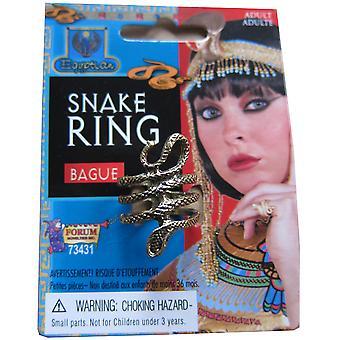 Traje de egipcia Reina del Nilo Cleopatra las mujeres serpiente oro anillo