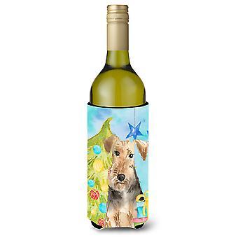 Christmas Tree Welsh Terrier Wine Bottle Beverge Insulator Hugger