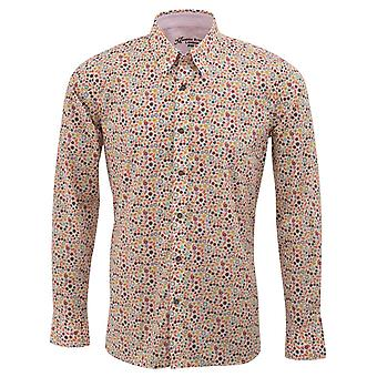 Maddox Street Liberty Print Leaf Design Mens Shirt