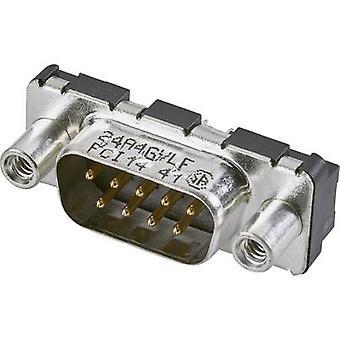 FCI D-SUB D09P24A4GV00LF D-SUB PIN strip 180 ° aantal pinnen: 9 print 1 PC (s)