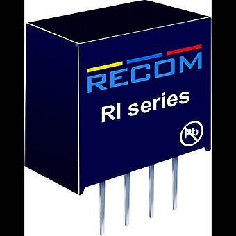 Convertor RECOM RI-0505S/P DC/DC (imprimare) 5 V DC 5 V DC 400 mA 2 W nr. de ieșiri: 1 x