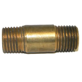 "Big A Service Line 3-21341 Brass Long Nipple Male Thread Size: 1/4"" x 1-1/2"""