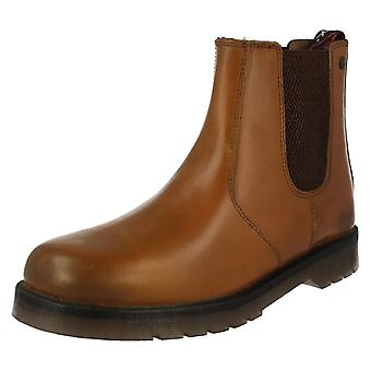 Mens HX London Leather Dealer Boots 01700