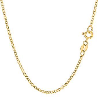 Collier chaîne en 14 k jaune or maillons ronds de Rolo, 1,85 mm