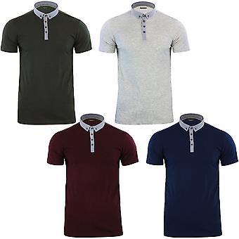 Modig själ Mens Chimera kort ärm bomull krage oformaterad Polo T Shirt Top