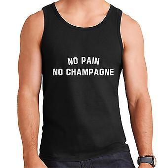 Keine Schmerzen kein Champagner Sport Style Slogan Herren Weste