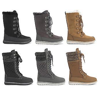 Womens Thermal Winter Snow Rain Warm Hiking Waterproof Knee High Boots UK 3-9