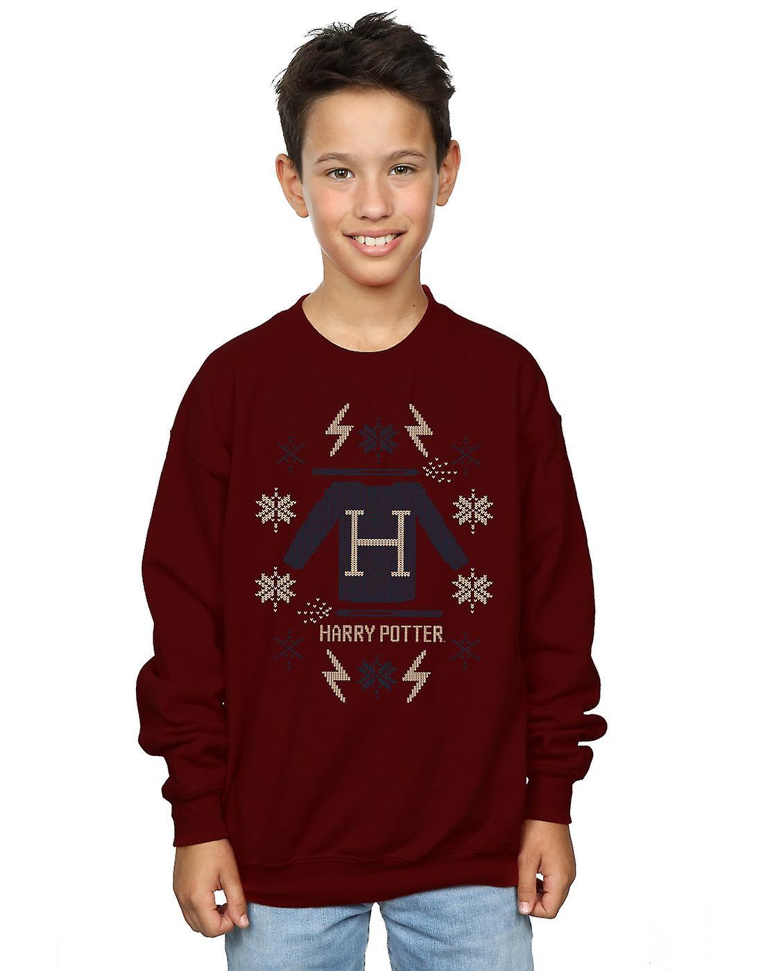 Harry Potter Boys Christmas Knit Sweatshirt