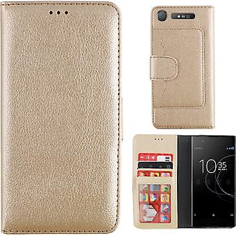 Colorfone Wallet Sony Xperia XZ1 Plånboksfodral GOLD