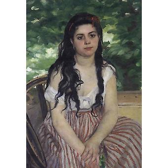 Summer(The Gypsy Girl),Pierre Renoir,85x59cm